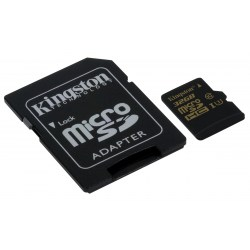 Kingston 32GB Micro SecureDigital (SDHC) Card Gold, UHS-I, 90r/45w + SD adapter